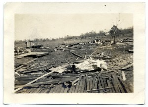 Wreckage from 1932 tornado