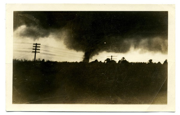 1932 Shelby County tornado photo by W. M. Russell