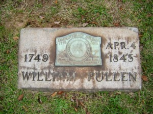 William Pullen's headstone at Forest Hill Cemetery