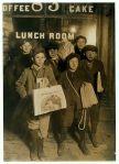 Newsboys, circa 1908