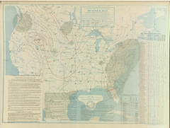 A U.S. Department of Agriculture map showing the weather conditions on Feb. 13, 1899. Taken with thanks from ABC 33/40 weather blog. For more information on the map and storm, visit http://www.alabamawx.com/?p=15266
