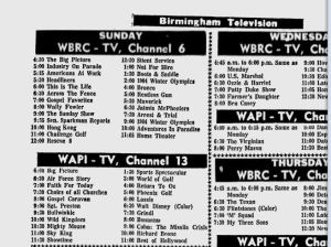 The Ed Sullivan Show wasn't a choice for Birmingham viewers in 1964. At 7 p.m. CST when the nation was preparing to see the Beatles debut, Birmingham viewers had a choice between Grindl or Disney's Wonderful World of Color.