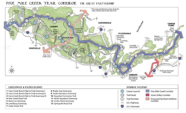 Hope lingers to build the ambitious 36-mile trail paralleling the route of Five Mile Creek through Jefferson County. Approximately half its length would follow the old CSX railbed--minus the historic trestle--project, and involve a host of private and government partners. The Freshwater Land Trust has been negotiating the purchase of the railroad property since 2013.