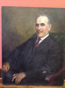 This oil portrait of Louis Pizitz, signed N. R. Brewer, was donated Sept. 20 by a family member of the contractor who cleared out a Pizitz building office in the 1980s.