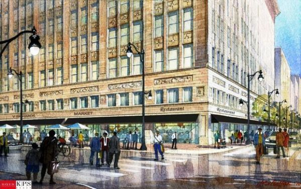 This rendering of a rejuvenated Pizitz Department Store building on 19th Street North and Second Avenue in Birmingham is the latest offered by developers Bayer Properties.