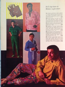 1969 was an, ahem, unusual year for men's fashion. This page taken from a Pizitz Christmas catalog that year.