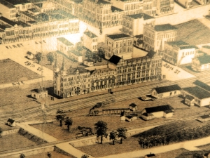 Hotel and Train Depot that was never built at 20th Street.