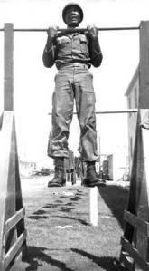 Bennie Charles in paratrooper training. Charles befriended Elvis Presley during basic training in Ft. Hood in 1958.