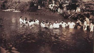 A mass baptism at Turkey Creek stirred one of 13 stories by Bobbie Hunt.