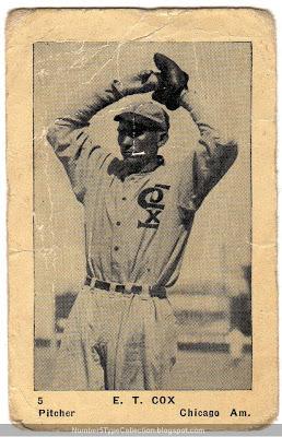 Ernest Thompson Cox, Chicago White Sox Pitcher, 1922
